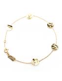 Bijou femme bracelet  5 petits ronds froissés