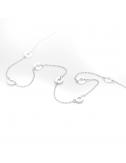Bijou femme bracelet 7 petits ronds ajourés en Or jaune ou Or blanc