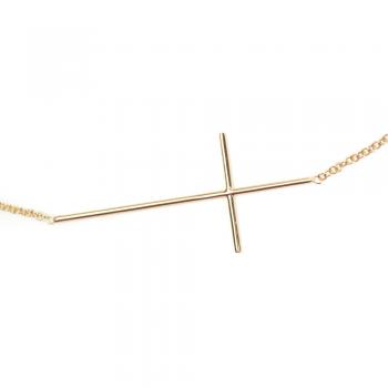 Bijou femme collier  croix fil