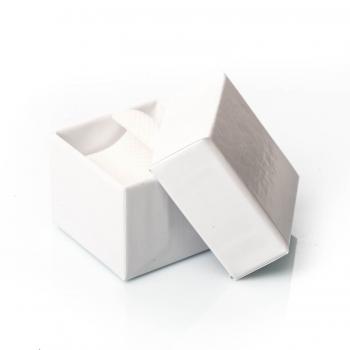 Bague double plumes en Or bicolore petit modèle, 9 carats
