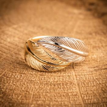bijou femme en or bicolore, 2 ors