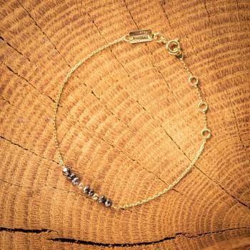 Bracelet en Or orné de diamants noirs