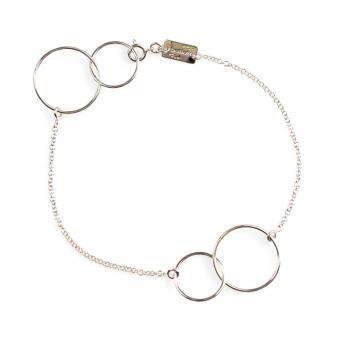 Bijou femme bracelet  4 ronds petit modèle fils ajourés