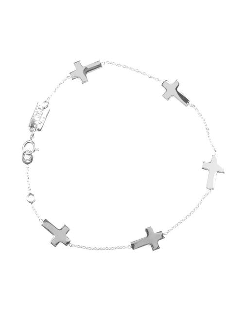 Bijou femme bracelet  5 croix plates